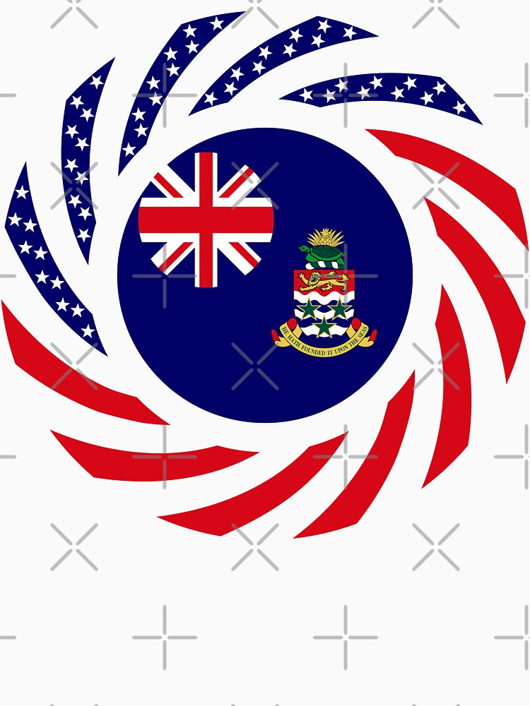 Caymanian American Multinational Patriot Flag Series by carbonfibreme
