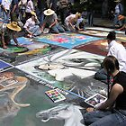 Street Chalk Artists I - San Rafael, Marin County, CA by Rebel Kreklow