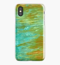 abstract landscape oil painting iPhone Case