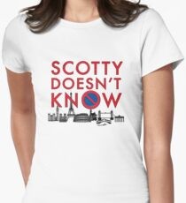 SCOTTY DOESN'T KNOW Women's Fitted T-Shirt