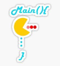 T-Shirt programmer main function Sticker