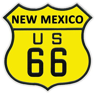 ROUTE 66 NEW MEXICO YELLOW by tomb42