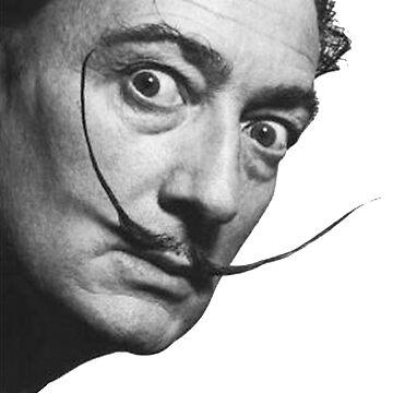 Salvador Dahli, Portrait by TOMSREDBUBBLE