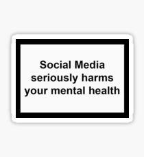 Social Media Harms Mental Health Sticker