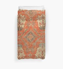 Antique Turkish Oushak Rug Duvet Cover