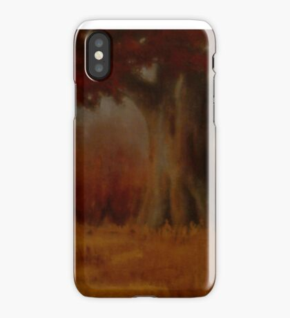 """""""... DOWN BY THE BIG OAK TREE, AT SUNDAY!,"""" Pastel Painting, for prints and products iPhone Case"""