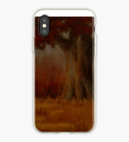 """""""... DOWN BY THE BIG OAK TREE, AT SUNDOWN!,"""" Pastel Painting, for prints and products iPhone Case"""