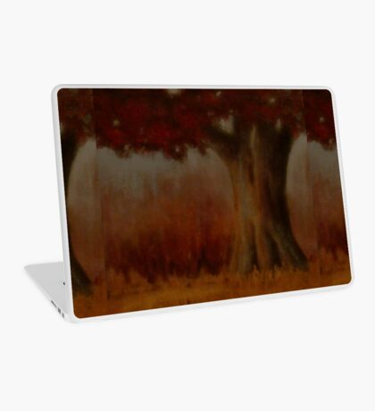 """""""... DOWN BY THE BIG OAK TREE, AT SUNDAY!,"""" Pastel Painting, for prints and products Laptop Skin"""