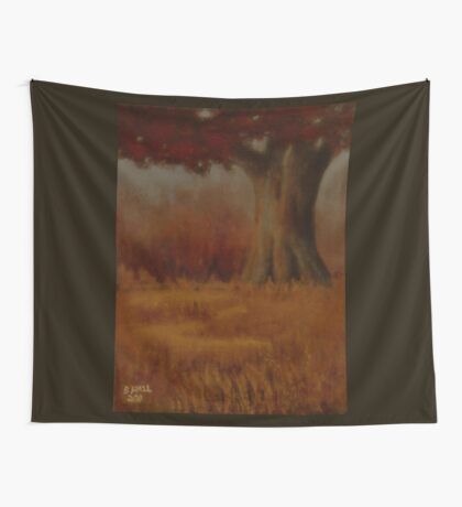 """... DOWN BY THE BIG OAK TREE, AT SUNDOWN!,"" Pastel Painting, for prints and products Wall Tapestry"