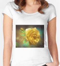 Rose Bud Women's Fitted Scoop T-Shirt