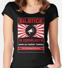 Silence Is Complicity Women's Fitted Scoop T-Shirt