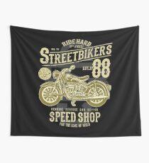 Custom Motorcycle Vintage Chopper Design Wall Tapestry