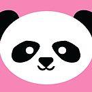 Adorable Baby Kawaii Panda Bear Face Pattern by SamAnnDesigns