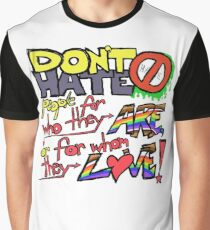 Don't Hate (clear background) Graphic T-Shirt