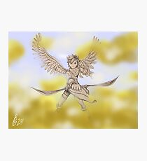 Pit (Kid Icarus) Sketch Photographic Print