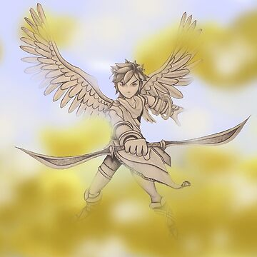 Pit (Kid Icarus) Sketch by Dach1989