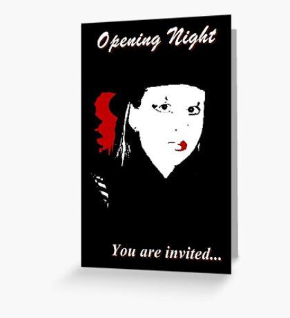 Theater Invitation Greeting Card