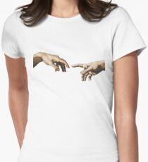 The creation of Adam Women's Fitted T-Shirt