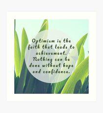 Leaves Quotation (Helen Keller #1) Art Print