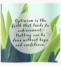 Leaves Quotation (Helen Keller #1) Poster