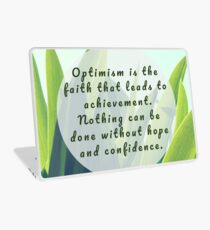 Leaves Quotation (Helen Keller #1) Laptop Skin