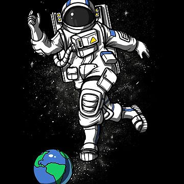 Space Astronaut Bowling Planet Cosmic Universe by underheaven
