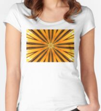 Golden Morning Kaleidoscope Women's Fitted Scoop T-Shirt