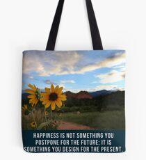 Flower Quotation (Jim Rohn) Tote Bag