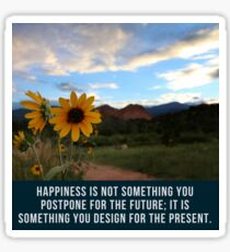 Flower Quotation (Jim Rohn) Sticker