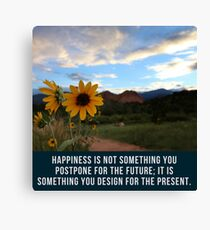 Flower Quotation (Jim Rohn) Canvas Print