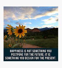 Flower Quotation (Jim Rohn) Photographic Print