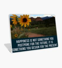 Flower Quotation (Jim Rohn) Laptop Skin