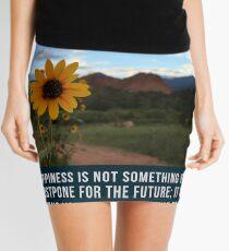 Flower Quotation (Jim Rohn) Mini Skirt