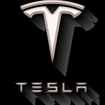 Tesla Shadow Sticker by roccoyou