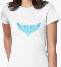 Clear Skies Smooth Sailing Dolphin Tail Women's Fitted T-Shirt