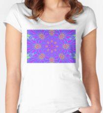 Golden Morning Neon Double Kaleidoscope Women's Fitted Scoop T-Shirt