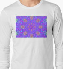 Golden Morning Neon Double Kaleidoscope Long Sleeve T-Shirt