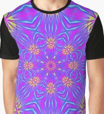 Golden Morning Neon Double Kaleidoscope Graphic T-Shirt
