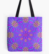 Golden Morning Neon Double Kaleidoscope Tote Bag