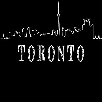 Toronto, Ontario city skyline graphic design by jhussar