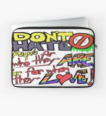 Don't Hate (laptop skin, clear background) Laptop Sleeve