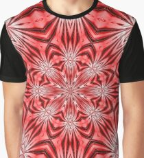 Golden Morning Double Kaleidoscope Neon Red Graphic T-Shirt