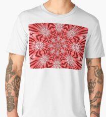 Golden Morning Double Kaleidoscope Neon Red Men's Premium T-Shirt
