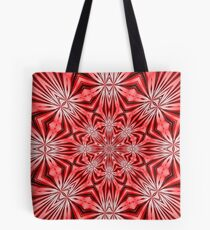 Golden Morning Double Kaleidoscope Neon Red Tote Bag