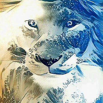 Lion Wave by Rob-Rad-Artwork