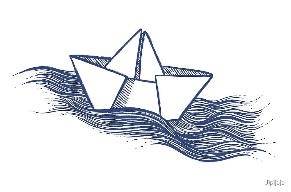 Schiff – dunkelblau von Jipijaja