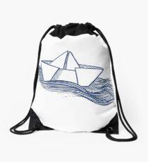 Schiff – dunkelblau Rucksackbeutel