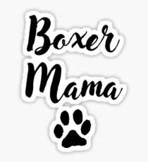 Boxer Mama Sticker