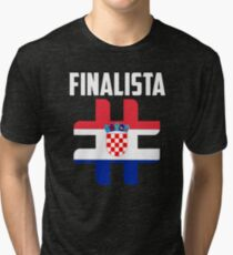 Finalista Cup Croatia Black Shirt 2018 BY WearYourpassion Tri-blend T-Shirt