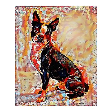 Boston Terrier - A Portrait in Oil by Chunga